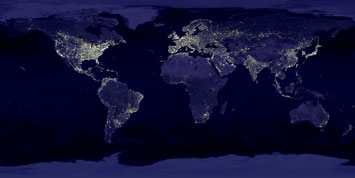 Earth at Night (click to download full-size image)