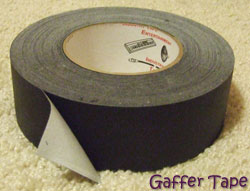roll of two-inch gaffer tape