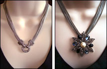 necklace: decorative clasp & attached brooch
