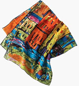 Riverfront silk scarf, from TravelSmith