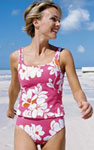 a tankini, from LandsEnd.com
