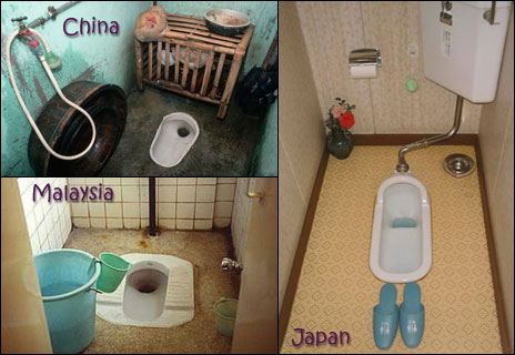 squat toilets around the world